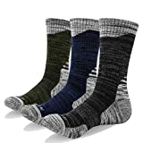 YUEDGE 3 Paires Homme Chaussettes Multi-Performance Wicking Anti-Ampoules pour Les Sports de Plein air randonnée Trekking Camping Backpacking