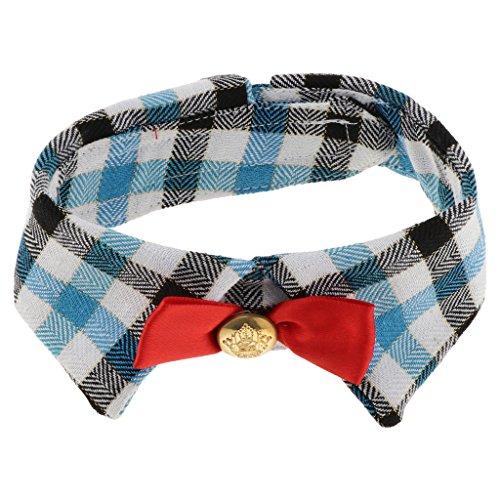 Hundehalstuch Dreieckstuch Hunde Bandana Katzen Welpen Halstuch mit Schleife oder Krawatte - Blau Typ 2