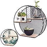 LIVONDO® Design Wandregal mit wechselbarer Rückseite I Schweberegal zum Aufhängen oder Aufstellen I dekoratives Hängeregal