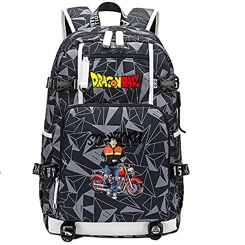 ZZGOO-LL Dragon Ball Son Goku/Vegeta IV/Torankusu Anime Mochilas Mochila Escolar para Hombres Mujeres, Trabajo, Tableta USB Unisex-E