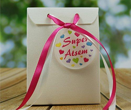 Boite de Chocolat garnie Super ATSEM - Idée de Cadeau Original Fin d'Année Scolaire noël remerciement. L'école est finie ! Vive les Vacances ! BtEcH