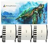 3x Compatible Rollo de Etiquetas DK-22205 62mm x 30.48m Cinta continua de papel blanca para Brother P-Touch QL-500 550 570 700 710W 720NW 800 810W 820NWB 1050 1100 1110NWB, alta capacidad adhesiva