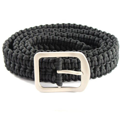 52in ASR Outdoor Survival Milspec 550 Paracord Belt with Stainless Steel Buckle