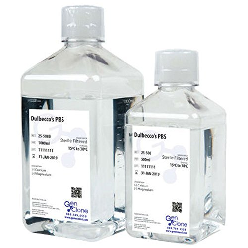 PBS, 10X, Without Ca, Mg, Phenol Red, 0.1um Sterile Filtered, 6 x 500 mL/Unit