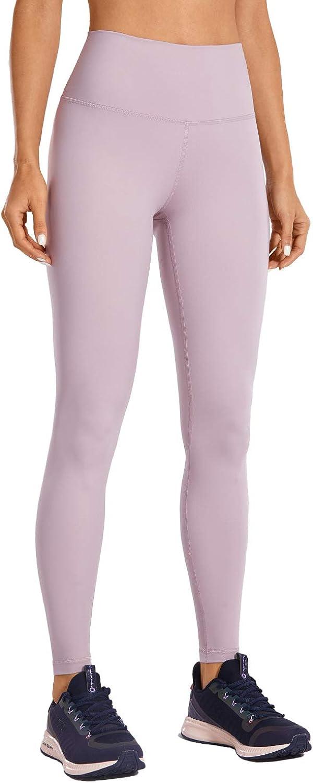 CRZ YOGA Womens Hugged Feeling High Waist Workout 4 Way Stretch Yoga Leggings-28 Inches