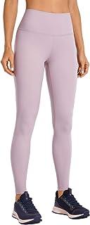 CRZ YOGA Donna Pantaloni Vita Alta Compressione Spandex Sportivi Leggings con Tasche-71cm