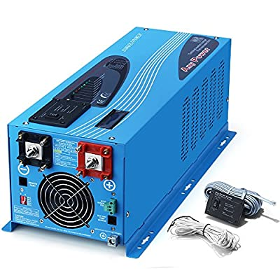SUNGOLDPOWER 3000W Peak 9000W Pure Sine Wave Power Inverter DC 24V AC 120V with Battery AC Charger Solar Wind Power Inverters LCD Display Low Frequency Solar Converter