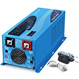 SUNGOLDPOWER 2000W Peak 6000W Pure Sine Wave Power Inverter DC 12V AC 120V with Battery AC Charger Solar Wind Power Inverters LCD Display Low Frequency Solar Converter