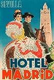 Feeling at home IMPRESION-en-PAPEL-hotel-Madrid-Retrotravel-Decorativo-77_X_51_cm
