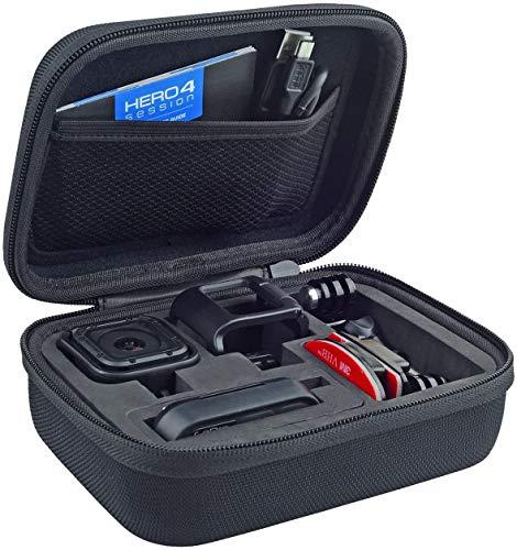 CamKix - Funda para cámara GoPro HERO5 y HERO4 Session, ideal para viajes o almacenamiento, protección completa, ajuste perfecto, incluye mosquetón y gamuza de microfibra
