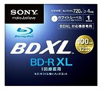 ソニー 4倍速対応BD-R XL 1枚パック 100GB(片面3層) ホワイトプリンタブルSONY BNR3VAPJ4