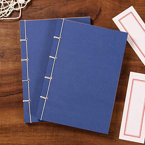 Diario Cuaderno Copias De Las Ocho Líneas De Escrituras Antiguas, Libros Antiguos, Antigüedades Hechas A Mano, 60 Hojas -60_ Cubierta Roja Página Interior Amarilla Marco Rojo Impreso2025