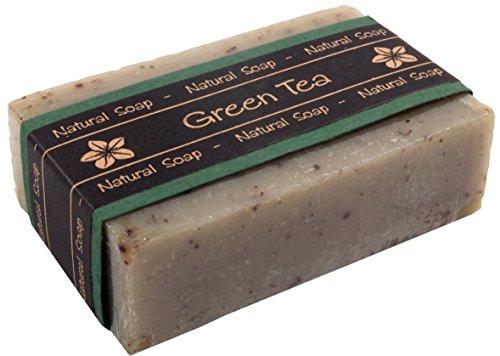 Guru-Shop Exotische Geurende Zeep - Groene Thee, Bruin, 2,5x8,5x5 cm, Zeep