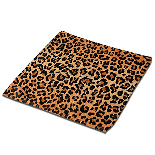 nobrand Best Leopard Print Washcloth Towel Face Cloths Soft Kids Bath Washcloths Wash Cloths for Bathroom Hotel Spa Body Kitchen Multi-Purpose Fingertip Towels Square