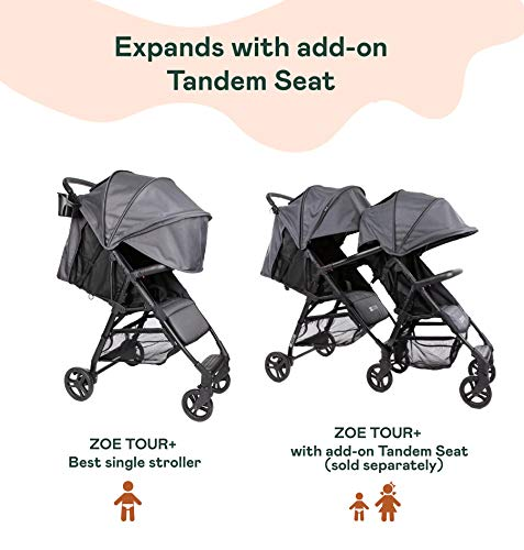 The Tour+ (Zoe XL1) - Best Everyday Single Stroller with Umbrella - Tandem Capable - UPF 50+ - Lightweight
