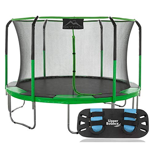 Evaxo 11' Round Trampoline with Trampoline Jumping Skate
