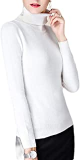 Women's Turtleneck Knitted Sweater Long Sleeve Slim Fit Solid Pullover Jumper