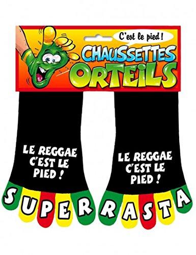 Chaussette à Orteils Super Rasta le Reggae c'est le Pied