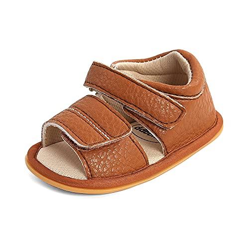 MK MATT KEELY Sandalias Verano Bebé Niñas Niños Zapatos Cuero Suave Antideslizante Puntera Abierta de Primeros Pasos para 0-18 Meses