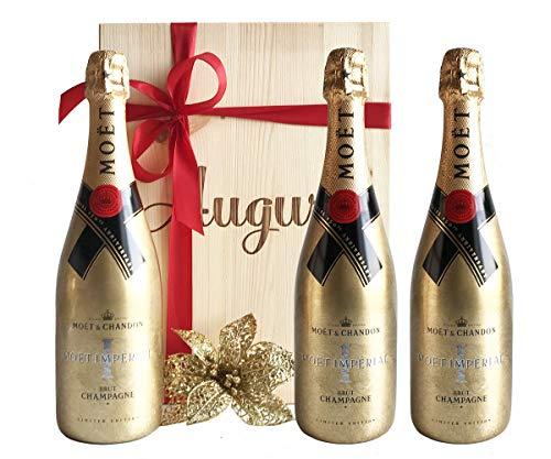 Champagne più Pregiato al Mondo Gold Bottiglia Möet & Chandon Moet Imperial 150° Anniversary - Bottiglia Dorata in Edizione Limitata – Cod 355