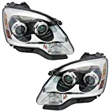 Epic Lighting OE Replacement Halogen Headlight Assemblies w/Clear Lens Pair Compatible for 07-13 GM Acadia