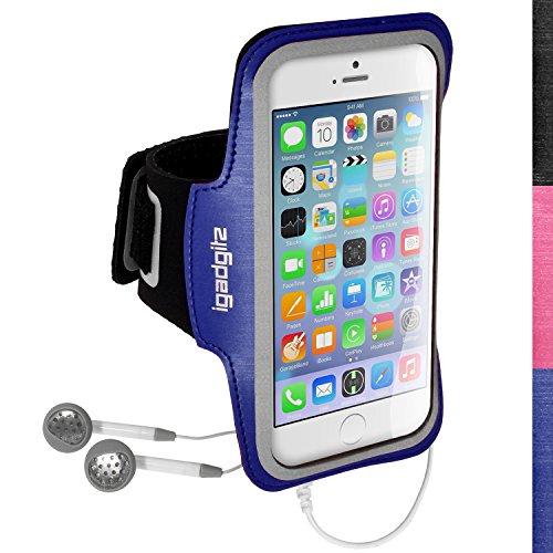 iGadgitz U3158 Antideslizante Brazalete Deportivo Funda Carcasa Compatible con Apple iPhone 6 y 6s 4.7' - Azul