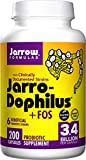 Jarrow Formulas, Jarro-Dophilus plus FOS, For Intestinal and Immunal Support, 3.4 Billion cells per Capsule, 200 Capsules (2 Pack)