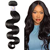 Natacee Sew In Virgin Hair Extensions Body Wave Unprocessed Raw Human Weft Hair Bundles Weave Soft Salon Quality for Women (Natural Black Color 14' 100g)