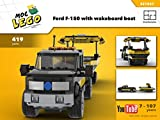 Ford F-150 with wakeboard boat (Instruction Only): MOC LEGO (English Edition)