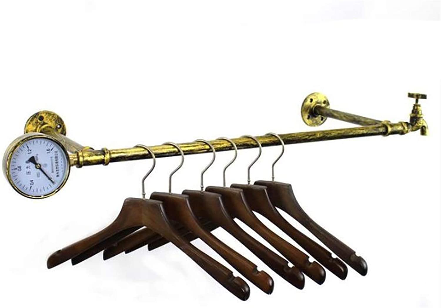 Wall-Mounted Coat Rack On The Wall Wrought Iron Hangers Side Hanging Display Rack (Size   86cm)