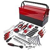 Caja de herramientas de 192 piezas para el hogar, caja de herramientas de hierro CRV, juego de herramientas de reparación profesional para bicicleta, coche, etc.