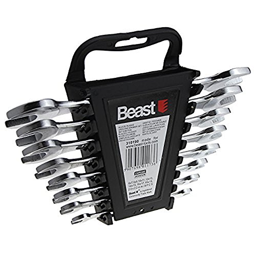 Assortiment de 8 clés à fourche double Expert CV 6 à 22 mm - 310190 - Beast