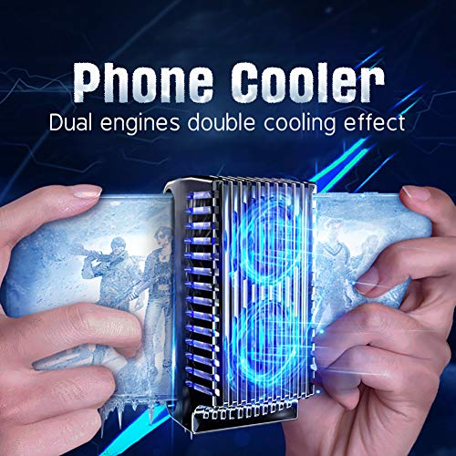 Phone Cooler, Cell Phone Radiator,Suitable for All Types of Cell Phones from 4.5 inches to 7 inches,Fast Cooling Cellphone Fan 2 in 1 Portable Aluminum Ice Porcelain Radiator