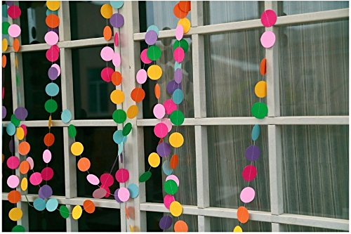 COLORFUL Paper Garland For Weddings or Party