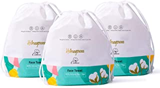 Honeymate Cotton Face Towels, 270 Count Ultra Soft Extra Thick Disposable Facial Tissues for Sensitive Skin and used as Cl...