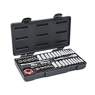 "GearWrench GearWrench 54 Piece 1/4"" Drive 6 Point Metric Standard and Deep Mechanics Tool Set"