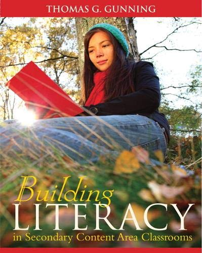 Compare Textbook Prices for Building Literacy in Secondary Content Area Classrooms 1 Edition ISBN 9780205580811 by Gunning, Thomas