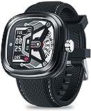 Hybrid 2 Smart Watch 0.96 50 m resistente al agua con reloj mecánico para monitorizar la frecuencia cardíaca y la presión arterial para hombres