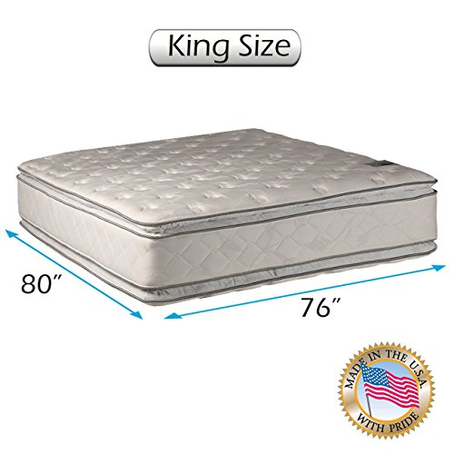 Check Out This Natural Dream King (76x80x12) Medium Soft PillowTop Mattress Only - Double-Sided S...