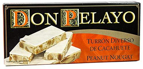 Turrón de Cacahuete duro Don Pelayo - 200 g - Delicioso sabor a turrón con auténtico CACAHUETE