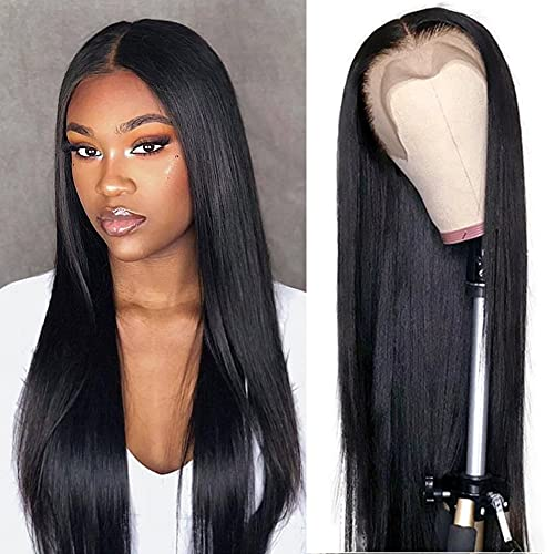 Dorosy Hair 13x4 Lace Front Wigs Human Hair Straight Lace Wigs for Black Women Brazilian Remy Hair Wigs Pre Plucked with Baby Hair (16 Inch)