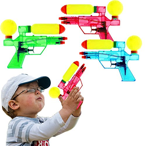 Double Barreled Squirt Water Guns Kids Outdoor Toy- 6 Pieces