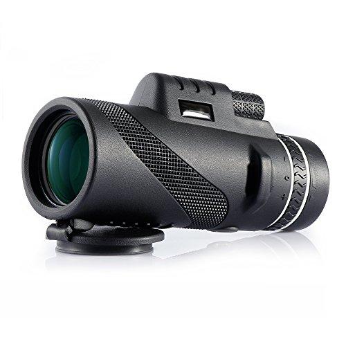 CompraFun Telescopio Monocular 40X60 con Enfoque Dual Zoom /Óptico Impermeable Visi/ón Partido F/útbol P/ájaros Turismo Caza Senderismo Conciertos Viaje Navegaci/ón a Prueba de Nieble D/ía y Noche