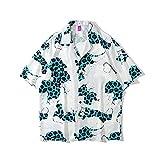 Camisa Hawaiana Para Hombre - Estampado En 3D Azul Leopardo Patrón Hombres Playa Manga Corta Camisa Botón Abajo Camisa Solapa Camisa Estampado Top Beachwear Verano Hombre Manga Corta Lapel Estampad