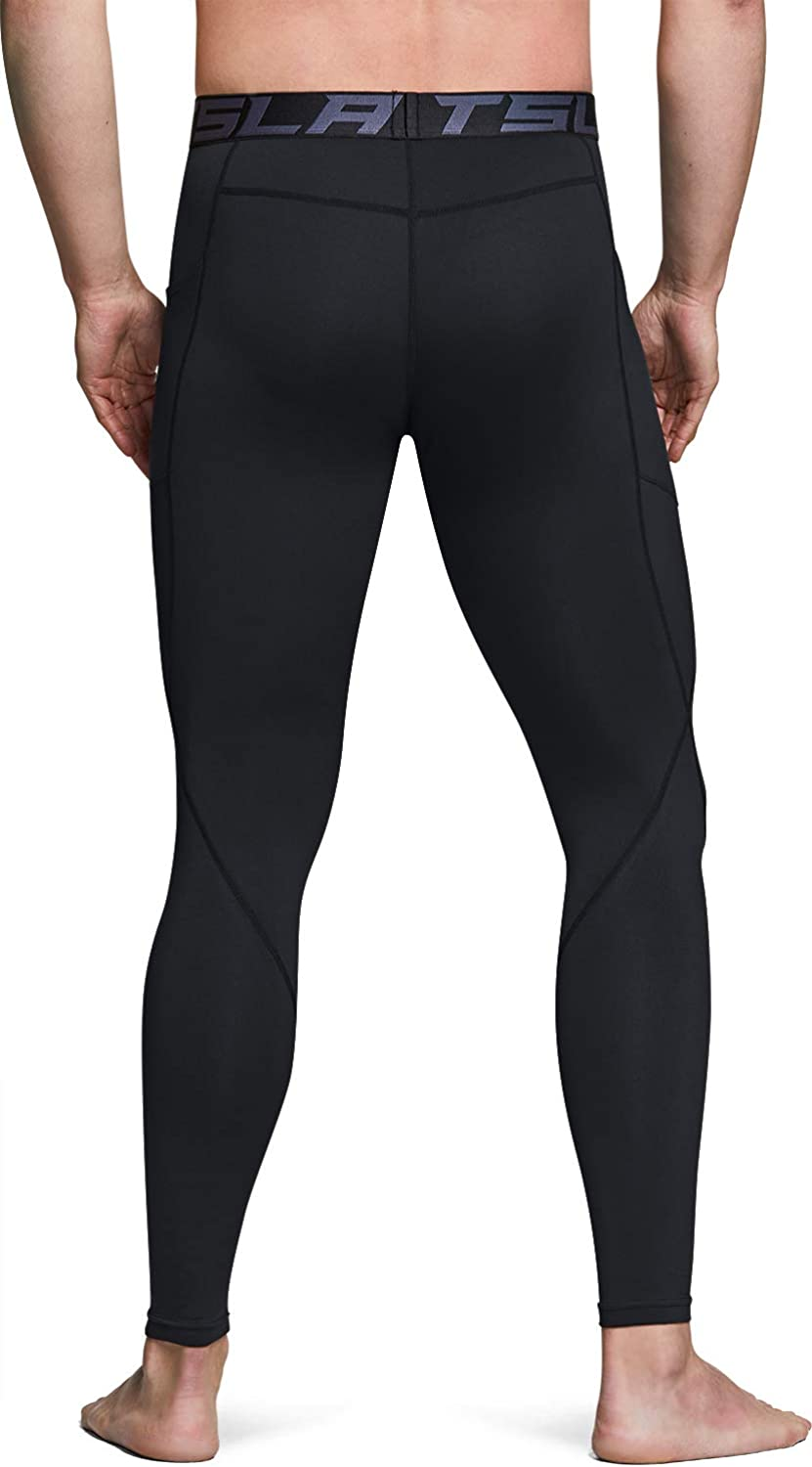 Athletic Sports Leggings /& Running Tights Wintergear Base Layer Bottoms TSLA Mens Thermal Compression Pants