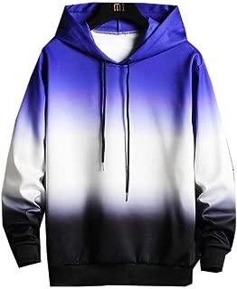 Howely Mens Juniors' Hip Hop Fashion Gradients Athletic Fit Hooded Sweatshirt