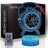 3D ilusión óptica 3D ilusión nocturna reloj despertador...
