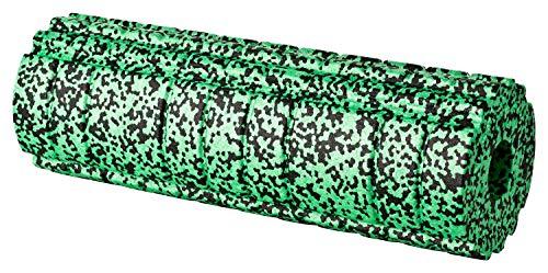 BODYMATE Faszienrolle Active Mittel-Hart mit GRATIS E-Book - Jungle-Green 45x15cm mit aktivierender Oberflächenstruktur