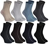 8 pairs of DIABETIC Non-Elastic Cotton Socks for SWOLLEN FEET, Classic Colors M