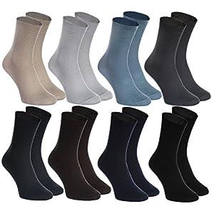 Rainbow Socks – Hombre Mujer Calcetines Diabéticos Sin Elasticos – 8 Pares